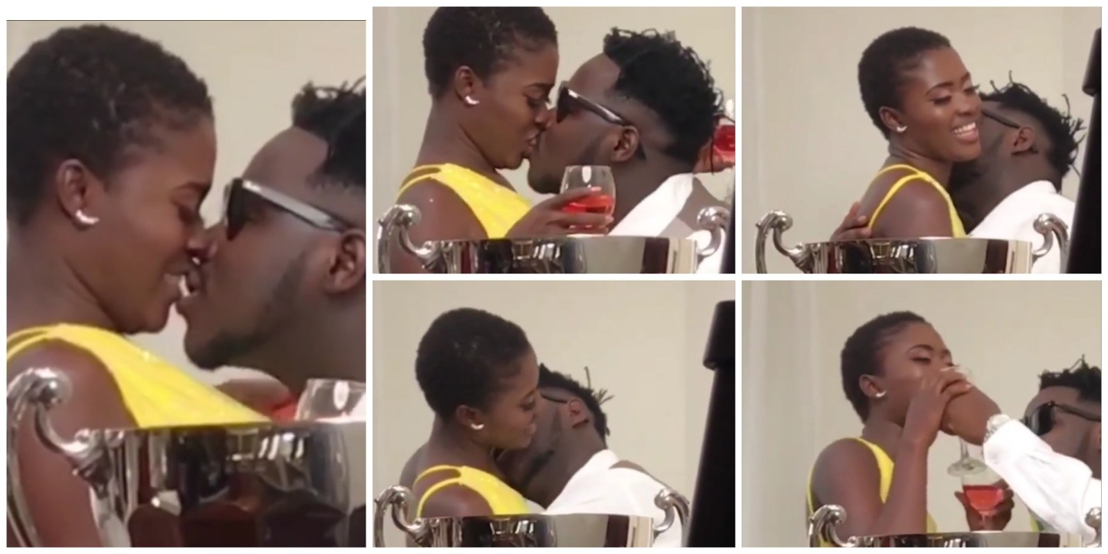 Fella Makafui And Husband Medikal