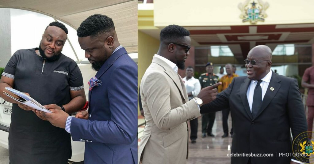 Sarkodie And Nana Addo