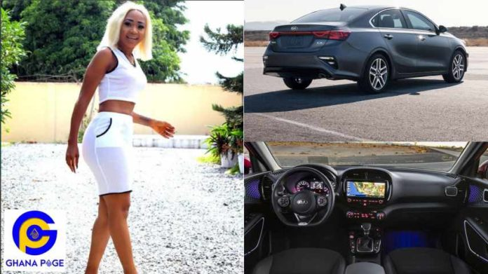 Akuapem Poloo Reveals The Exact Price Of Her New Kia Forte Car