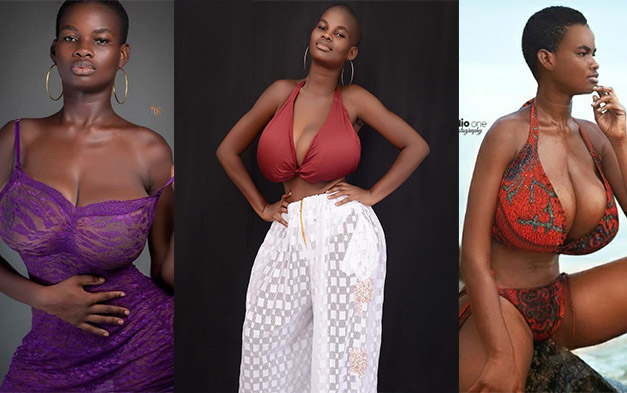 Ghanaian Model With The Biggest Natural Boobs