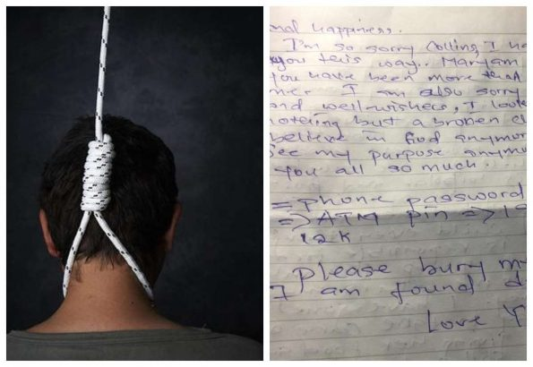 Lady Leaves Heartbreaking Note Before Committing Suicide