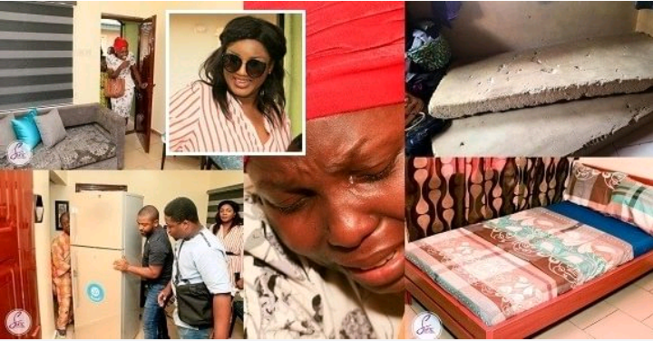 Omotola Jalade-Ekeinde amazingly transforms the home of a widow