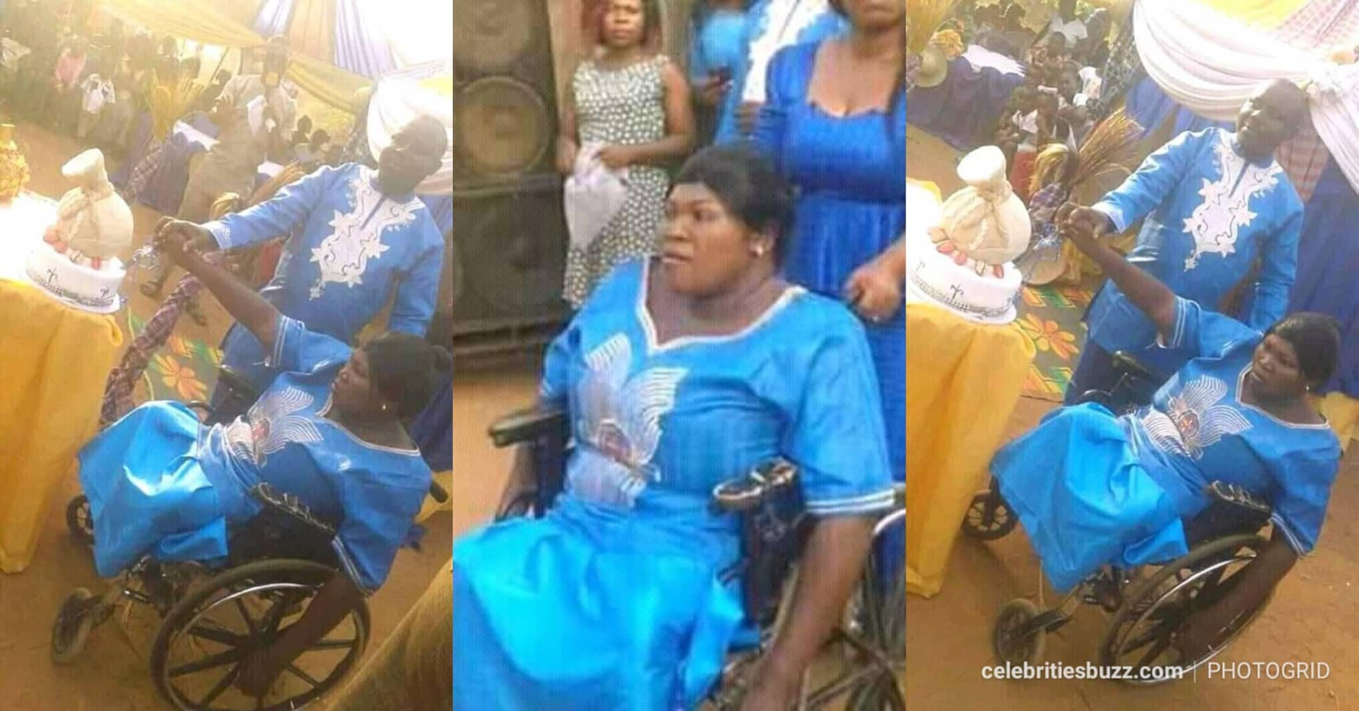 Disabled woman Lady Weds Her Lover