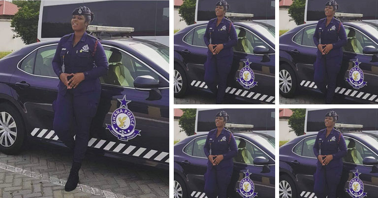 Photo of 'Ghana's Most Beautiful' Female Police Officer goes viral