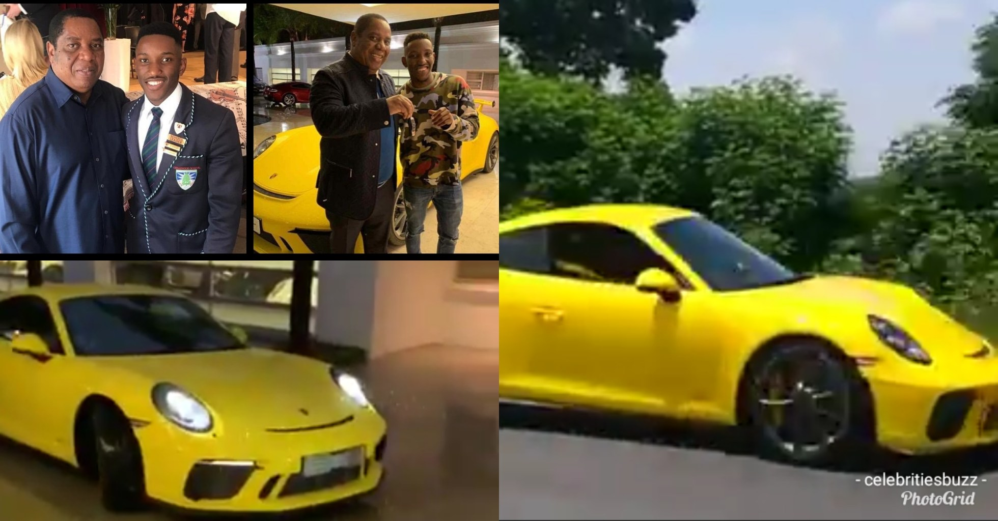 South African billionaire rewards his 18-year-old son with a Porsche for passing matric exam