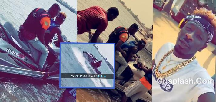 Shatta Wale Jet Skiing on Ada River