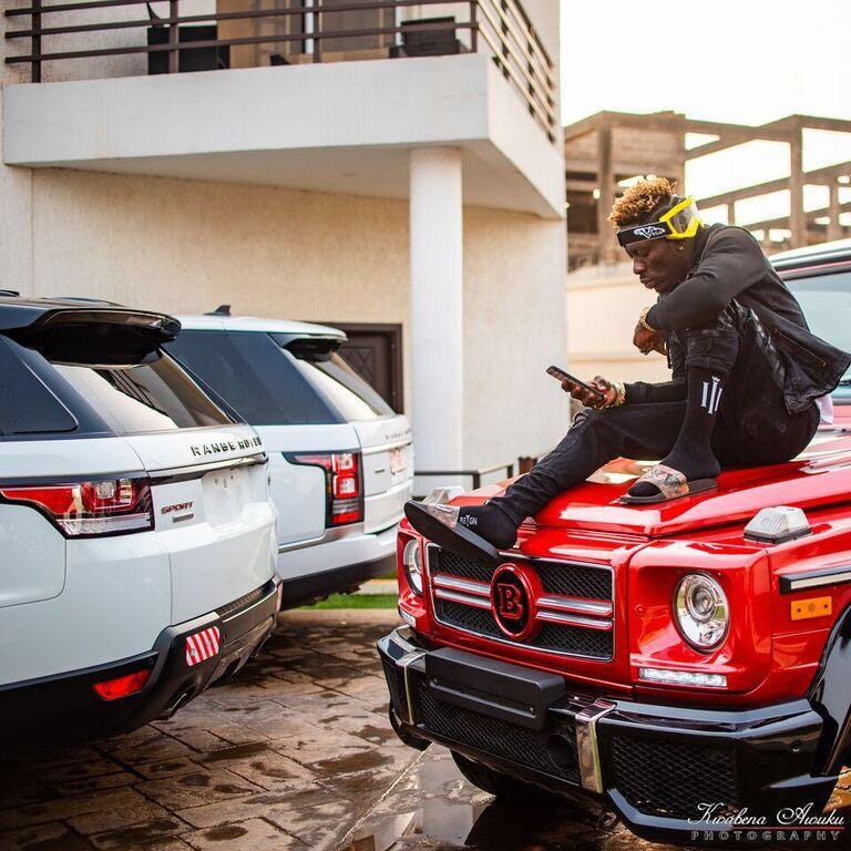 Shatta Wale Shows Off His Expensive Whips