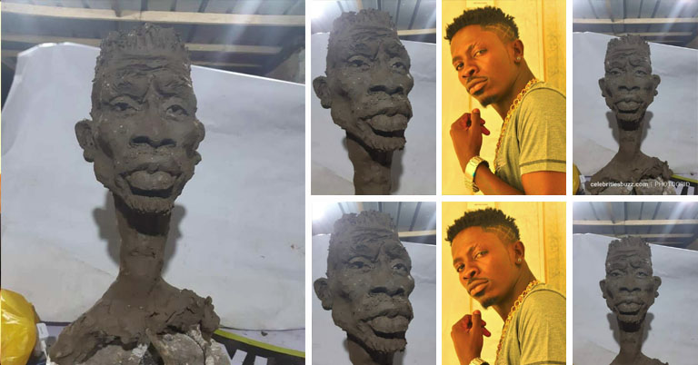 shatta wale sculpture
