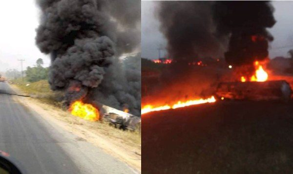 Tanker explodes in Cross River as residents scoop fuel