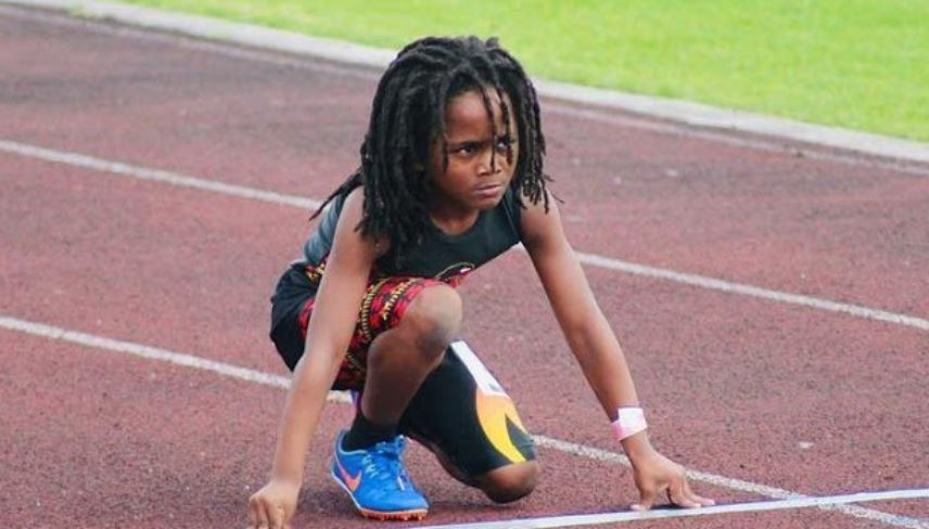 Fastest boy in the world can already run 100m in 13.48 seconds and he's 7