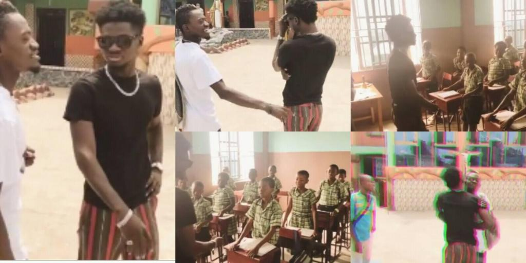 Lilwin invites Kuami Eugene to his school to talk with his students