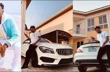 About To Be 25, Sitting On 35Million – Mayorkun Says As He Acquires A Brand New Mercedes-Benz CLA-Class (Photos)