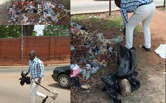 CTV journalist, Kwame Tutu breaks the internet with his #trashtagchallenge