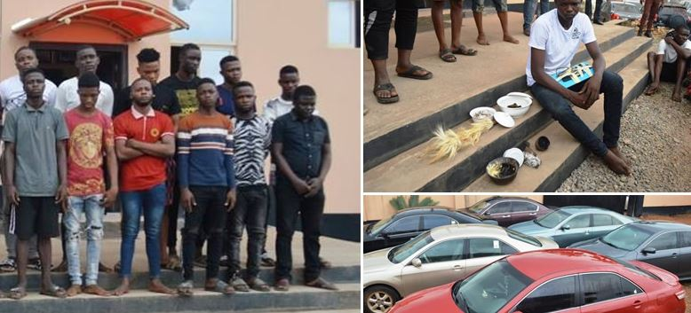 EFCC Arrests 11 YAHOO BOYS In Lagos… Recovers Seven Exotic Cars