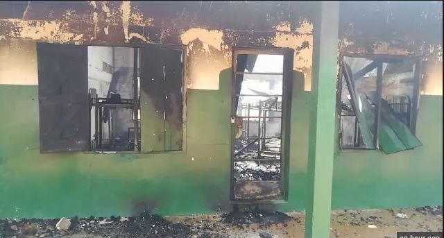 Fire ravages St Charles SHS dormitory; students' properties destroyed