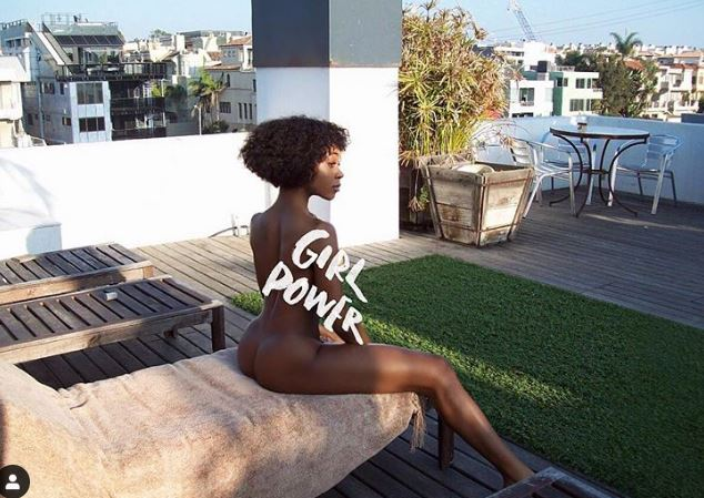 'Girl Power'- Swimsuit model, Michelle Okoro says as she poses completely naked in new photo