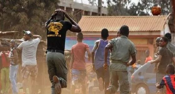 JUST IN!! Voters Flee As Armed THUGS Disrupt Election In Benue… Smash Ballot Box [PHOTOS]
