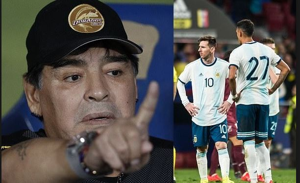 Maradona blasts Lionel Messi and his Argentina teammates after 3 – 1 defeat by Venezuela