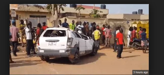 Robbery goes wrong at Taifa as brave driver knocked down robbers