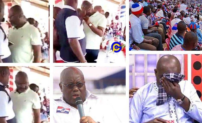 Video of Ken Agyapong crying at Npp grounds pops up after he quit politics