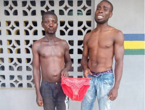 2 Men Arrested For Stealing Pant In Lagos While Fighting Over Who Will Get The Highest Share