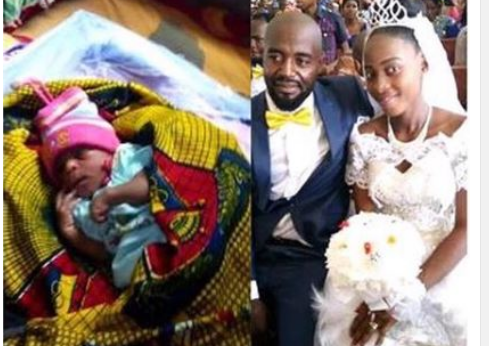 WOW: A Nigerian Woman Gives Birth On Her Wedding Day [PHOTO]