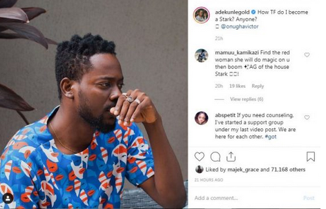 Adekunle Gold Joins The Got And Avengers Trend