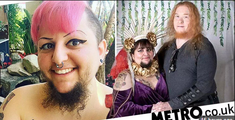 Photo: Bearded Woman Who Feared She Would Never Find Love Gets Married In A Christian-Satanist Ceremony