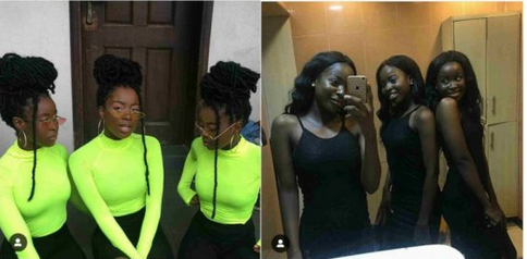 Beautiful Nigerian Triplet Causing Confusion On Social Media With Their Pictures