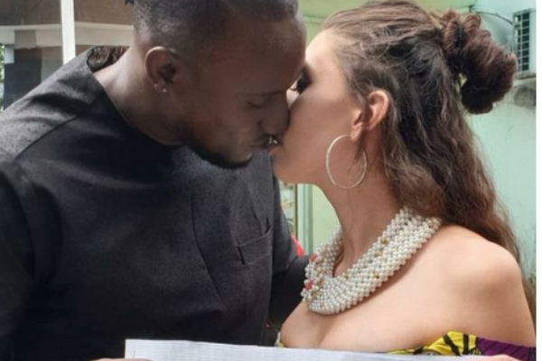 Checkout Photos Of BBNaija Star, Ifiemi Angel And His Canadian Girlfriend Wedding In Port Harcourt