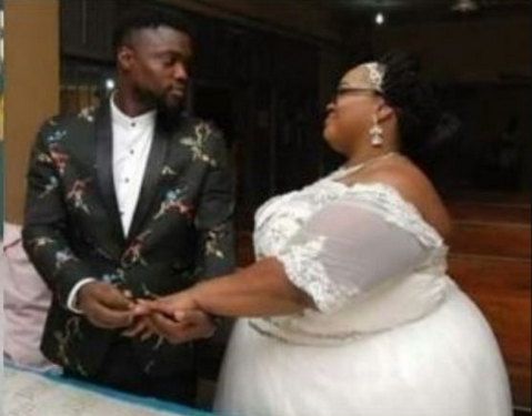 WOW: Checkout The Wedding Photos Of A Plus-Sized Woman With Her Husband That Has Gone Viral
