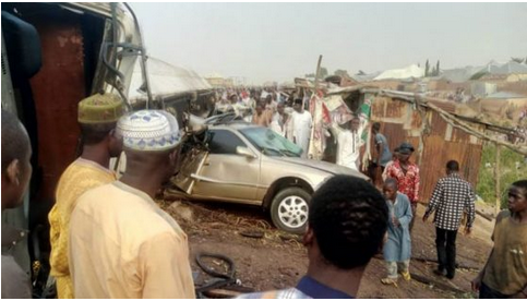 Breaking News: Civil Defence Officers Beaten To Death After Their Vehicle Killed 8 People During Easter Service In Gombe