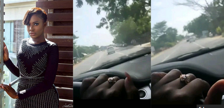 Video: Fella Makafui Shows Her Ghc400,000 Promise Ring Whiles Driving