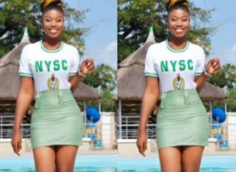 WOW: Female Corp Member Slays With Her NYSC Uniform
