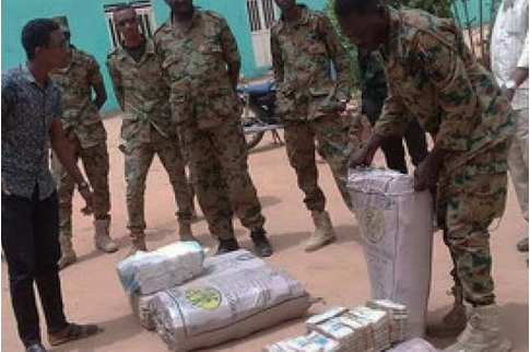 Photo: Huge Sums Of Cash Found In The Residence Of Ousted Sudanese Leader, Omar Al-Bashir