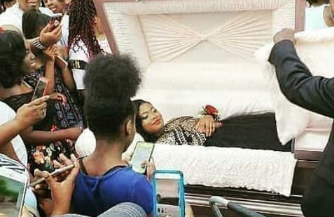 WOW: Lady Goes Viral Online After Posting Her Pre-Burial Photos
