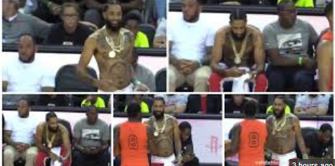 Last Video Of Nipsey Hussle At An NBA Game 24Hrs Before He Was Murdered