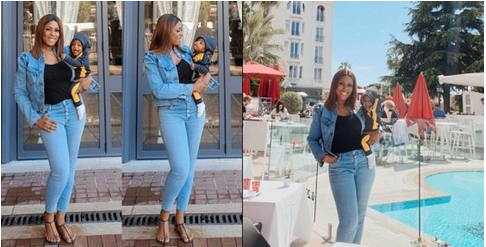 Linda Ikeji PHOTO'd With Her Son, Jayce In France (Photos)