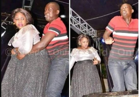OMG: Man Ejaculates On His Trouser While Rocking A Lady On Stage [PHOTO]