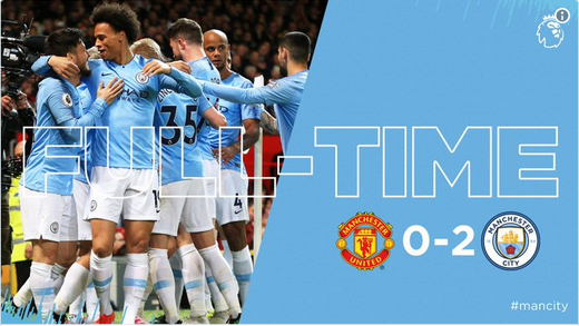 Video: Manchester United 0-2 Manchester City [Premier League] Highlight 2018/19