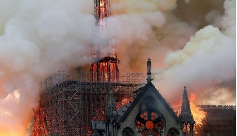Breaking News: Massive Fire Cuts Notre Dame Cathedral In Paris