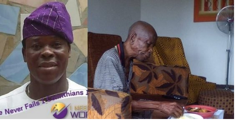 """WOW: Nigerian Man Celebrates His 90-Year-Old Father Who """"Died And Rose Again"""" After 36 Hours"""