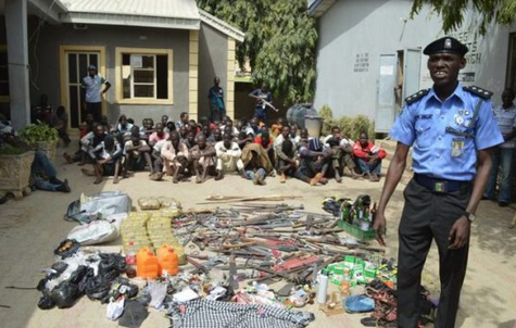 Police Recovers Deadly Weapons At PDP And APC Secretariats In Kano State