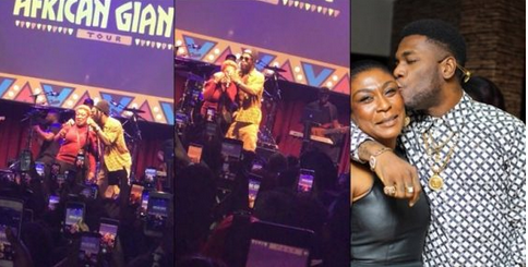 Photos: See The Beautiful Moment Burna Boy Brought Out His Mum To Perform 'DANGOTE' Live On Stage