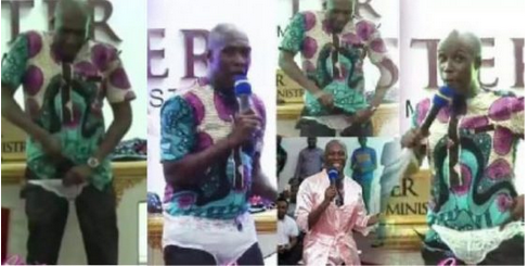 WOW: See The Moment Popular Pastor Wears Panties In Church To Lecture Married Women [VIDEO]