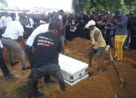 Very Sad: Tears Flow As INEC Staff Shot Dead During Election In Rivers Was Laid To Rest [Photos]