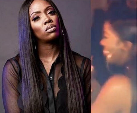 Leaked Video: Tiwa Savage Caught On Camera Dancing With Her Boobs After She Pulled Of Her Clothes