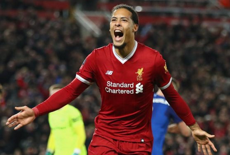 Virgil van Dijk Of Liverpool Beats Sterling And Hazard To Be A Crowned PFA Players' Player Of The Year