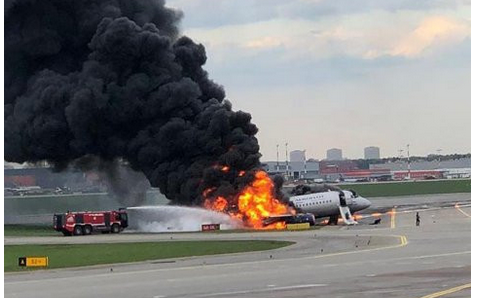 So Sad: 41 People Die After Plane Erupted In Flames During Emergency Landing [Photos]