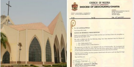 Anglican Church In Abia Dismisses 2 Homosexual Priests